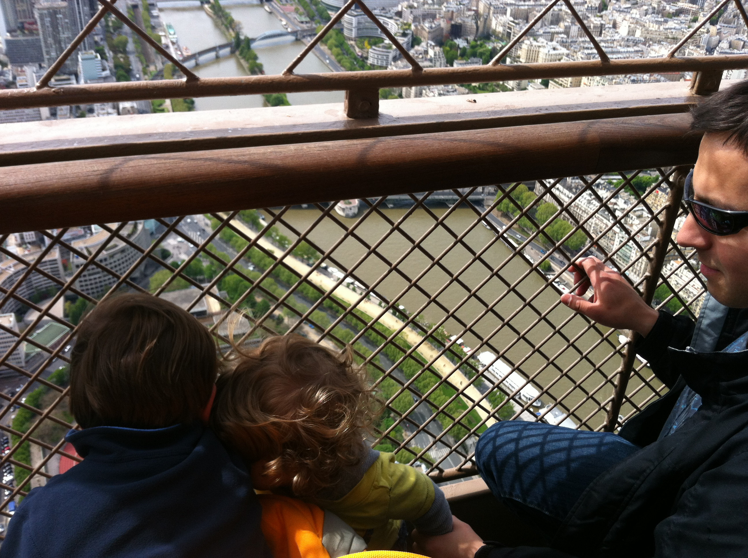 Looking down on Paris, together.